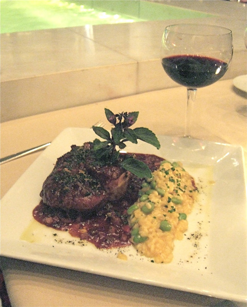 The kitchen is right-on tonight with splendid osso buco on the $59 prix fixe. Photo: Steven Richter