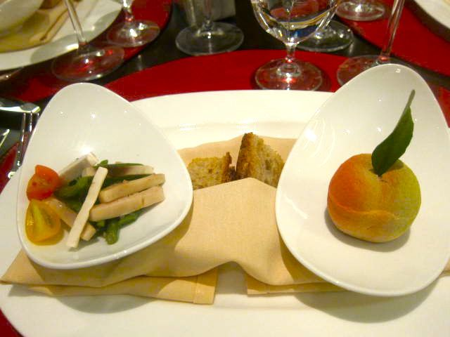 Foie Gras Peach, Restaurant Bocuse