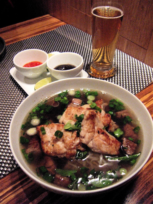 Bun's haunting sweetbread and beef pho. Photo: Steven  Richter