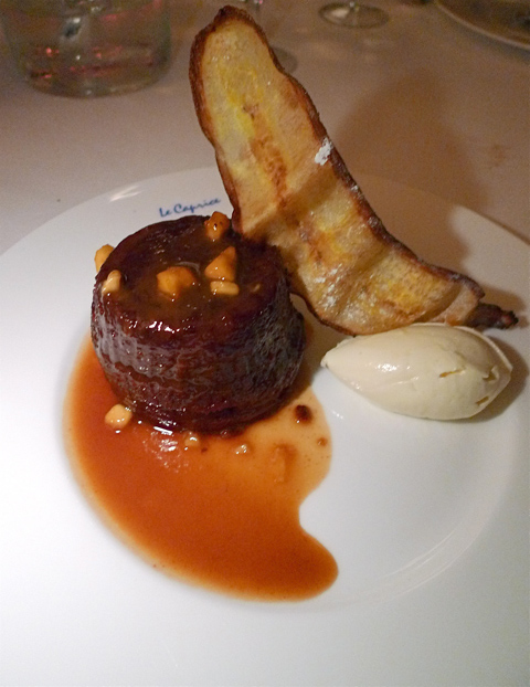 Sticky toffee pudding is a hit with the homesick Brit and me too. Photo: Steven Richter