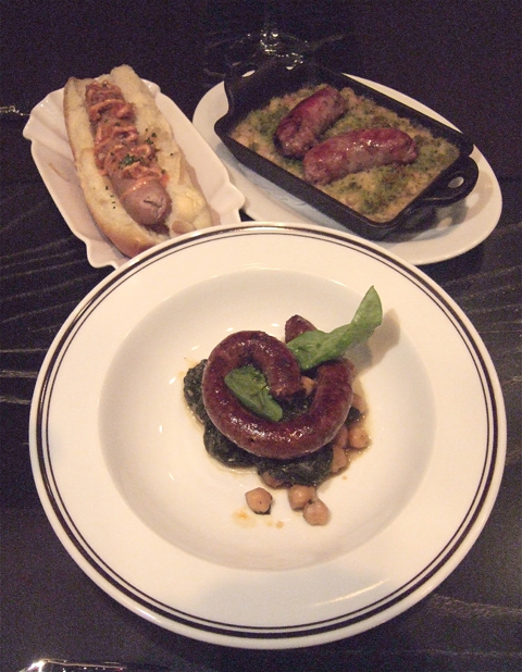 Spicy Basque blood sausage is my favorite but Toulouse or merguez do the trick too. Photo: Steven Richter