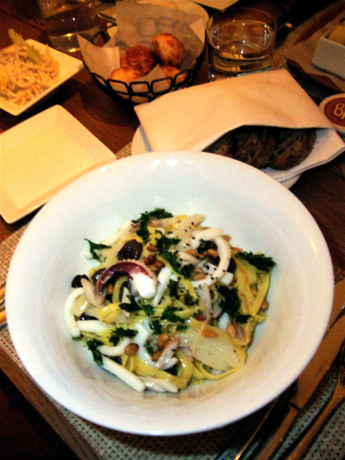 Lemony house made linguine with cuttlefish is the evening's triumph. Photo: Steven Richter