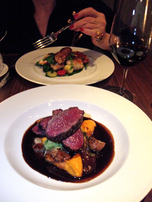 Chef-Owner John Fraser's wonderfully rare venison with chestnuts. Photo: Steven Richter