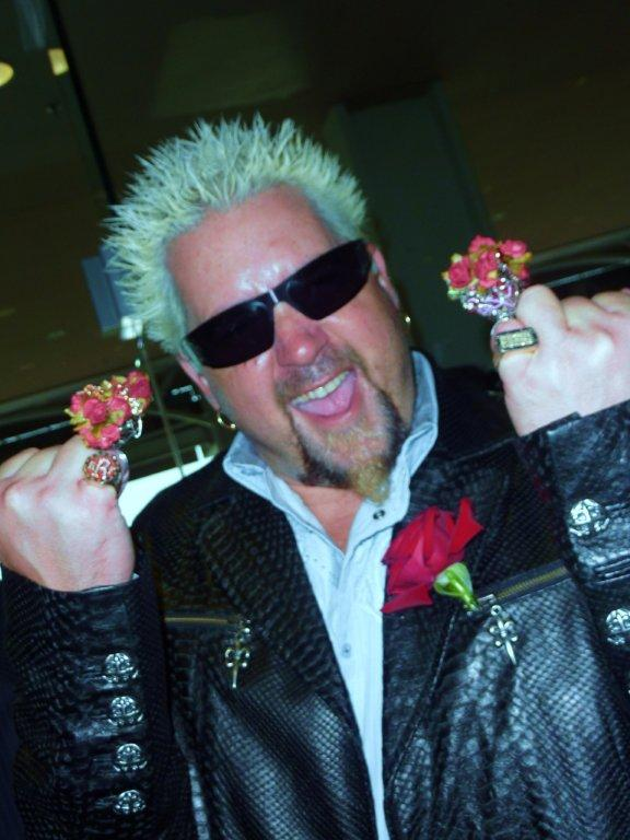 Guy Fieri fans will be hoping to see their idol loping about at his Times Square fief.