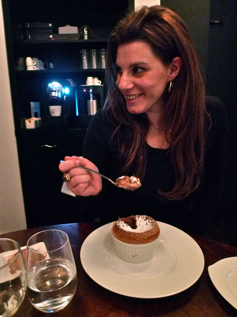 Chef Godard's soufflés come on the prix fixe. Chana loves chocolate. Photo: Steven Richter