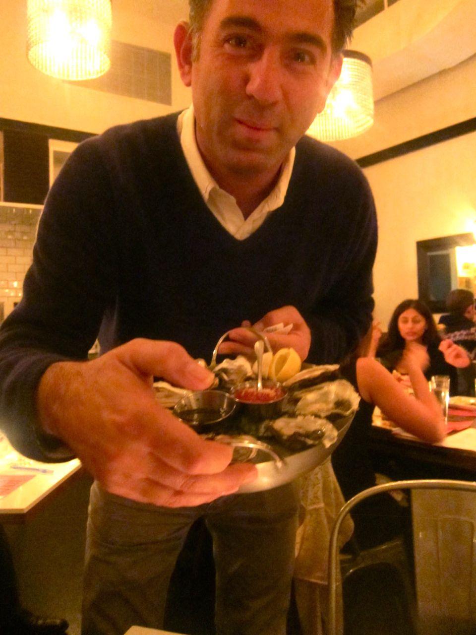 Co-owner Eric Lemonides' sweetness never flags, as he runs between restaurants.