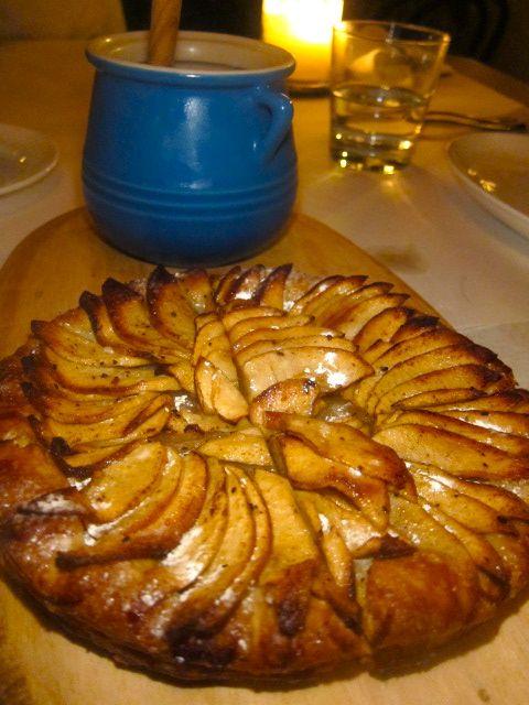 """Pastry Chef Jen Lee's """"Apple Tarte Fine Pour 2"""" with Batterkill Farms crème fraîche."""