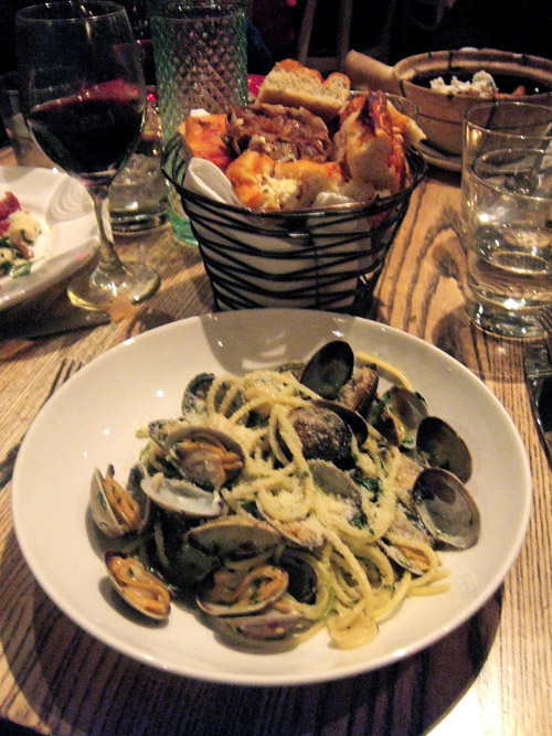 Hand-made pasta chitara with clams can be splendid. Photo: Steven Richter