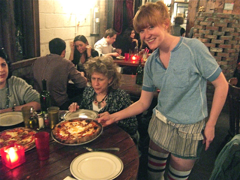 Great pizzas and endearing style at Roberta's in Bushwick. Photo: Steven Richter