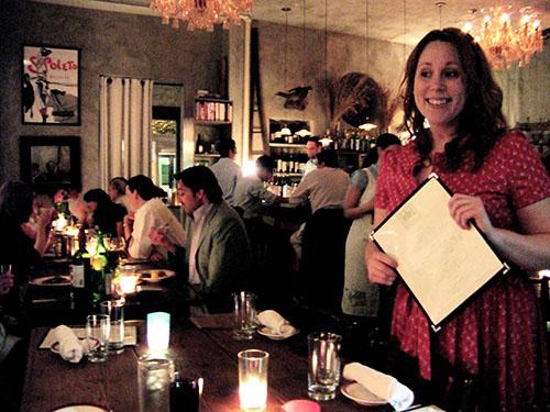 Mellisa Dennis books Sfoglia weeks ahead and explains the changing menu. Photo: Steven Richter