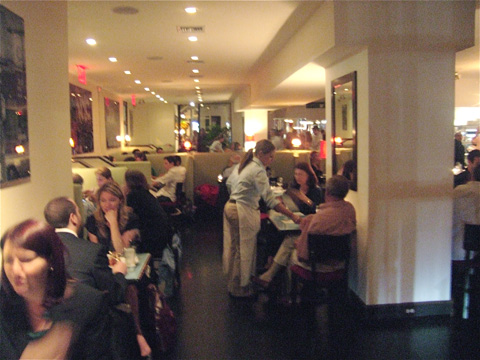 Upper West Side crowds can't wait to fill this duplex and the sidewalk tables.  Photo: Steven Richter.