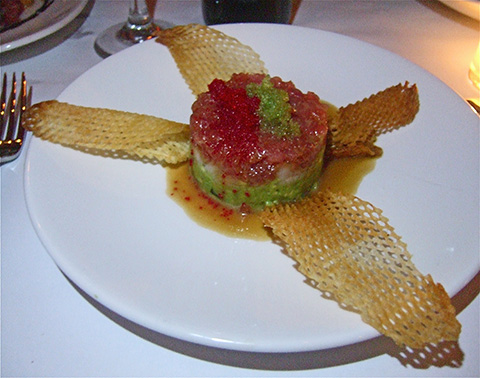 Tuna tartare with guacamole is Italian with a Mexican hat dance. Photo: Steven Richter