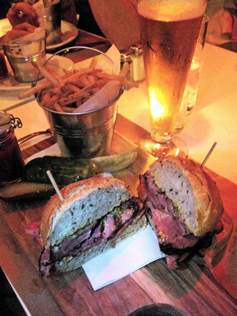 21st Century deli does pastrami chunks in a rye roll. Photo: Steven Richter