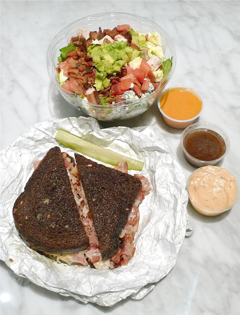 FoodParc's Pastrami Bacon Rueben is a sandwich worth the detour. Photo: Steven Richter.
