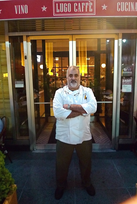 Consulting chef Sam Hazen stands at the entrance Saturday night as we arrive sans reservation. Photo: Steven Richter