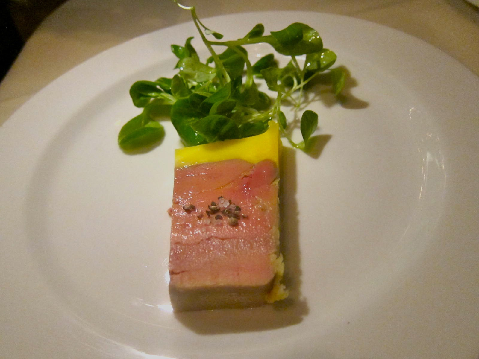 Chef Christian Delouvrier decides we must taste his exquisite foie gras. Photo: Gael Greene
