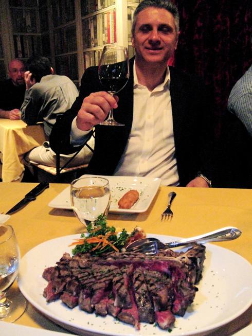 The Piemontese cow makes a tender steak at Padre e Figlio. Photo: Steven Richter