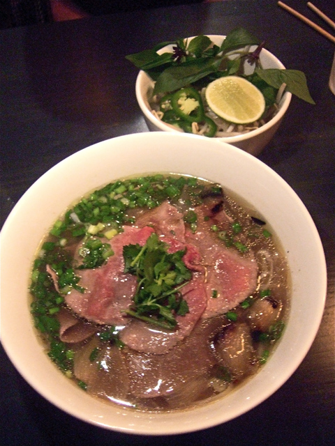 "This is Vietnam's iconic pho – ""Pho Real"" with slices of rare beef.  Photo: Steven Richter"