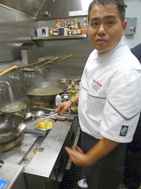 Samuelsson seems energized running the kitchen at Red Rooster. Photo: Steven Richter