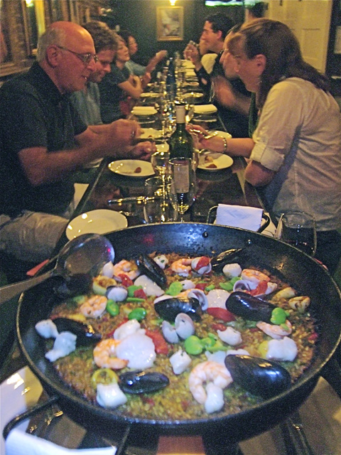 Paella is the drill but fideua with long or short noodles is a delicious option.  Photo: Steven Richter
